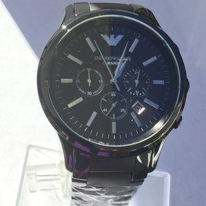 Emporio Armani Black Ceramica Men's Watch